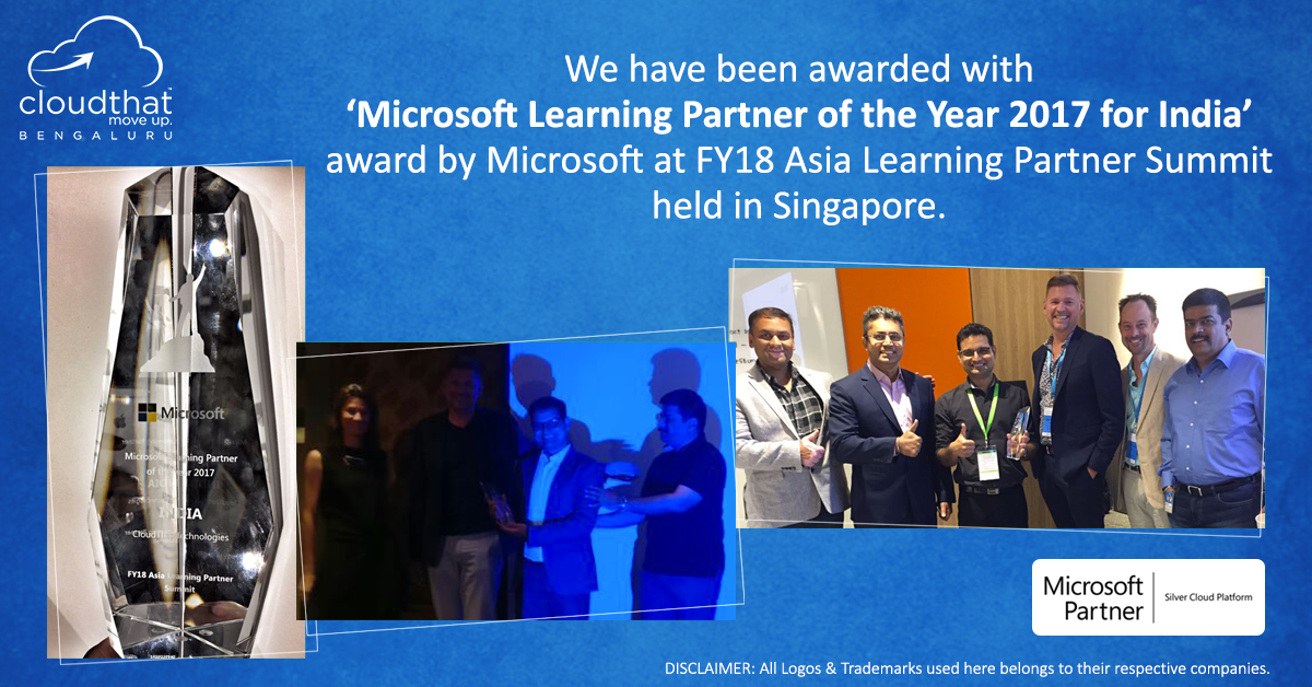 microsoft learning partner of the year 2017 for India